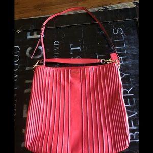 Coral Coach handbag